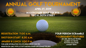 2019 Annual Golf Tournament @ Rogers Park Golf Course